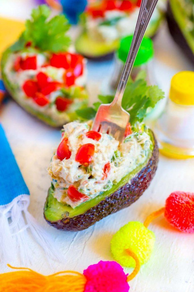 Tuna Salad Stuffed Avocado Recipe