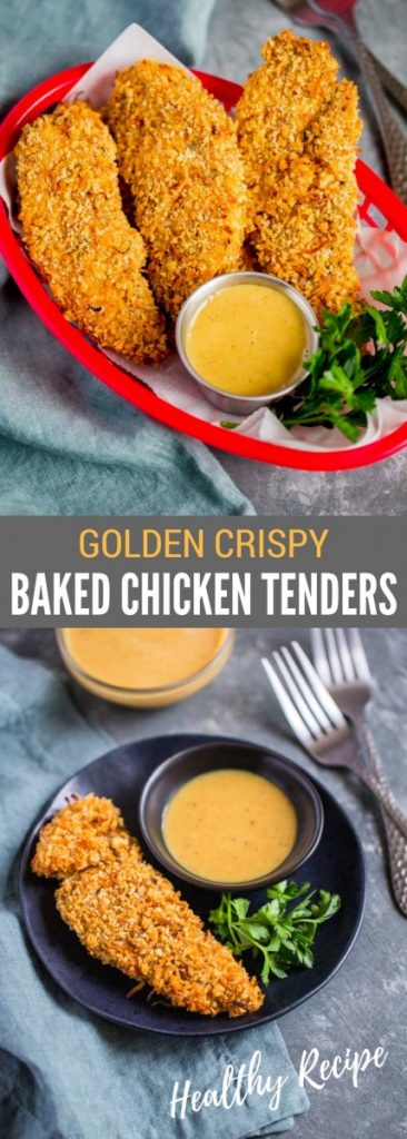 Golden Crispy Baked Chicken Tenders