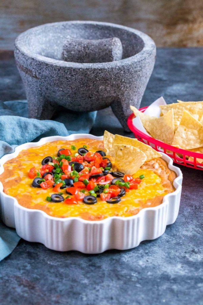 Cheesy Rotel Bean Dip Recipe