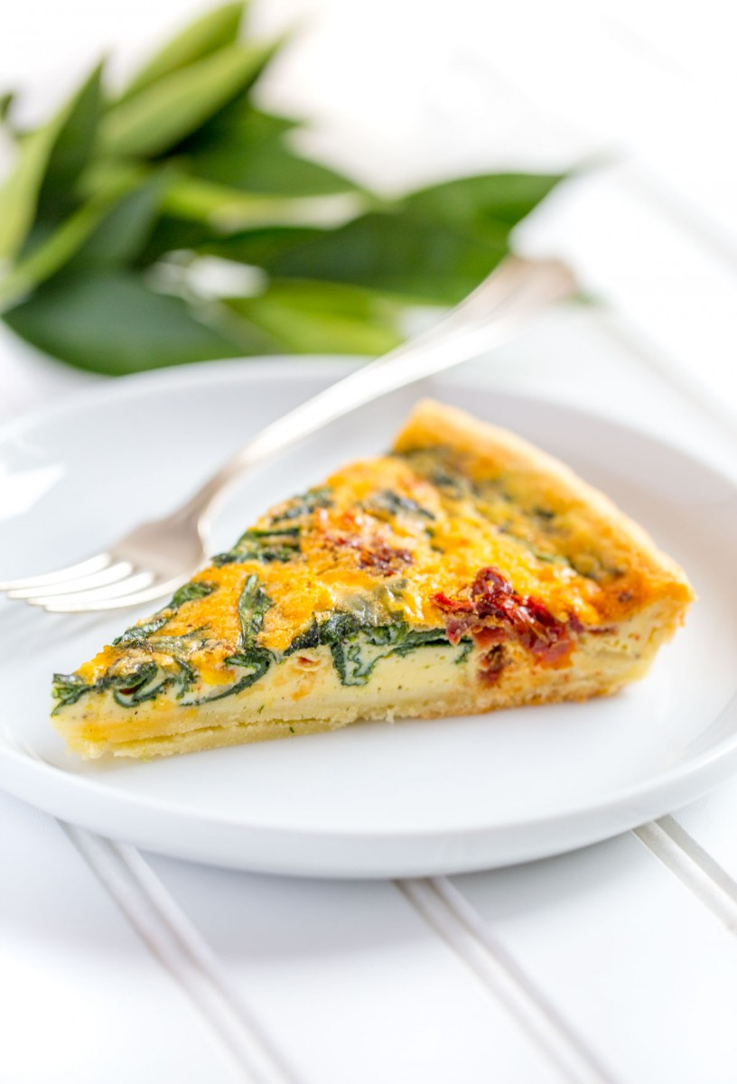 Spinach Quiche With Sun Dried Tomatoes Easy Recipe