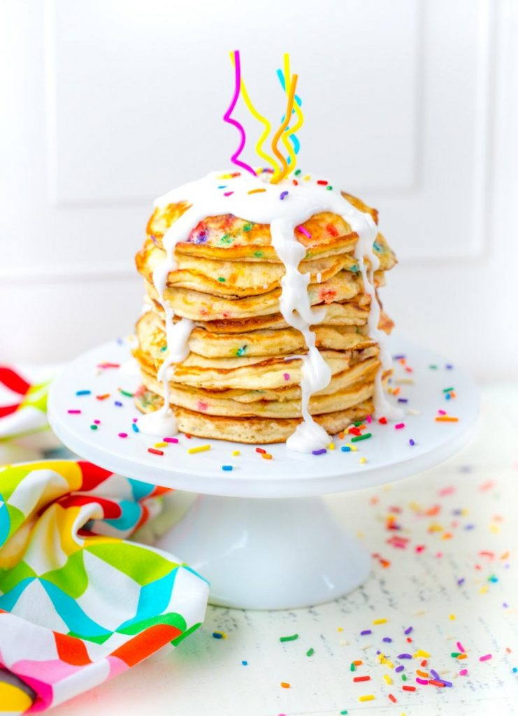 Funfetti Pancakes from Scratch