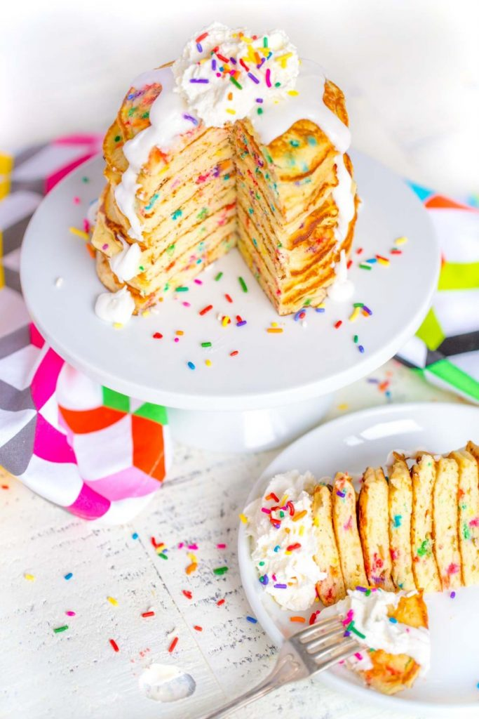 Best Birthday Breakfast Ideas: Funfetti Pancakes from scratch!