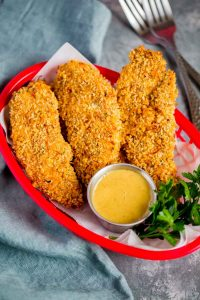 Golden Crunchy Baked Chicken Tenders