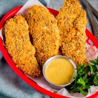 Golden Crunchy Baked Chicken Tenders