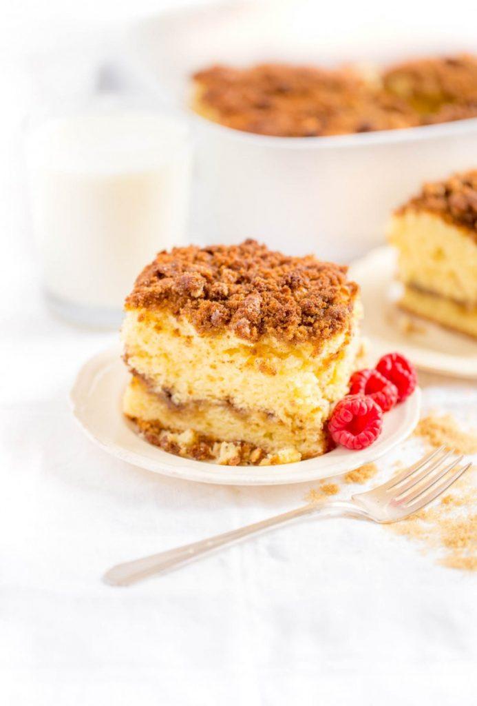 Moist Sour Cream Coffee Cake Easy Classic Recipe