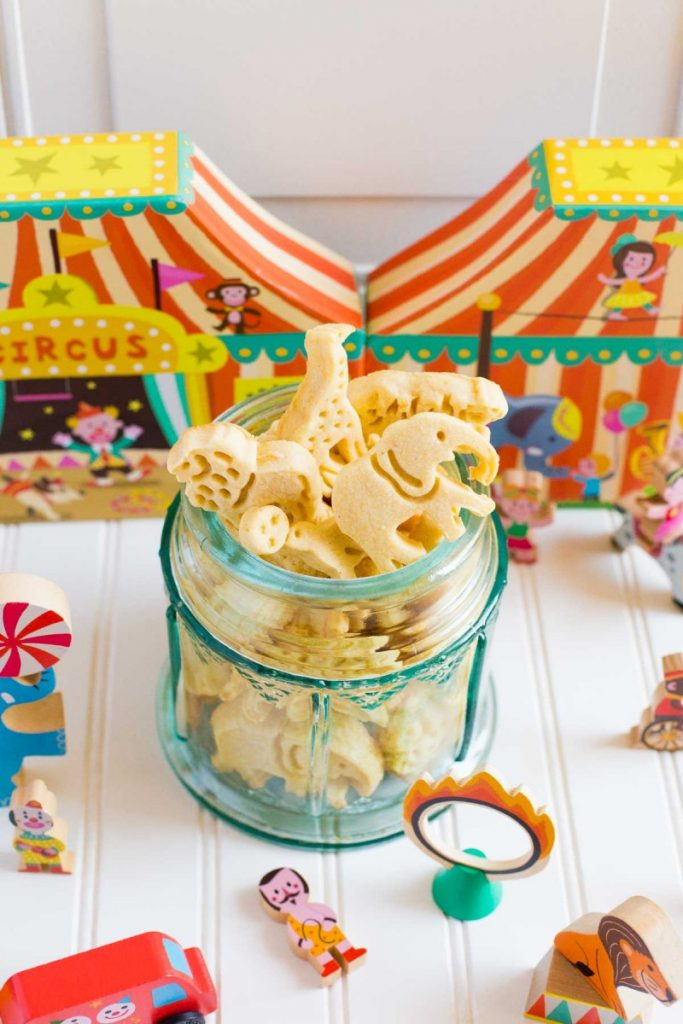 Nostalgic animal cracker cookies.