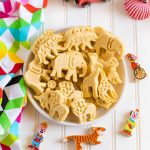 Animal Crackers served on a platter.