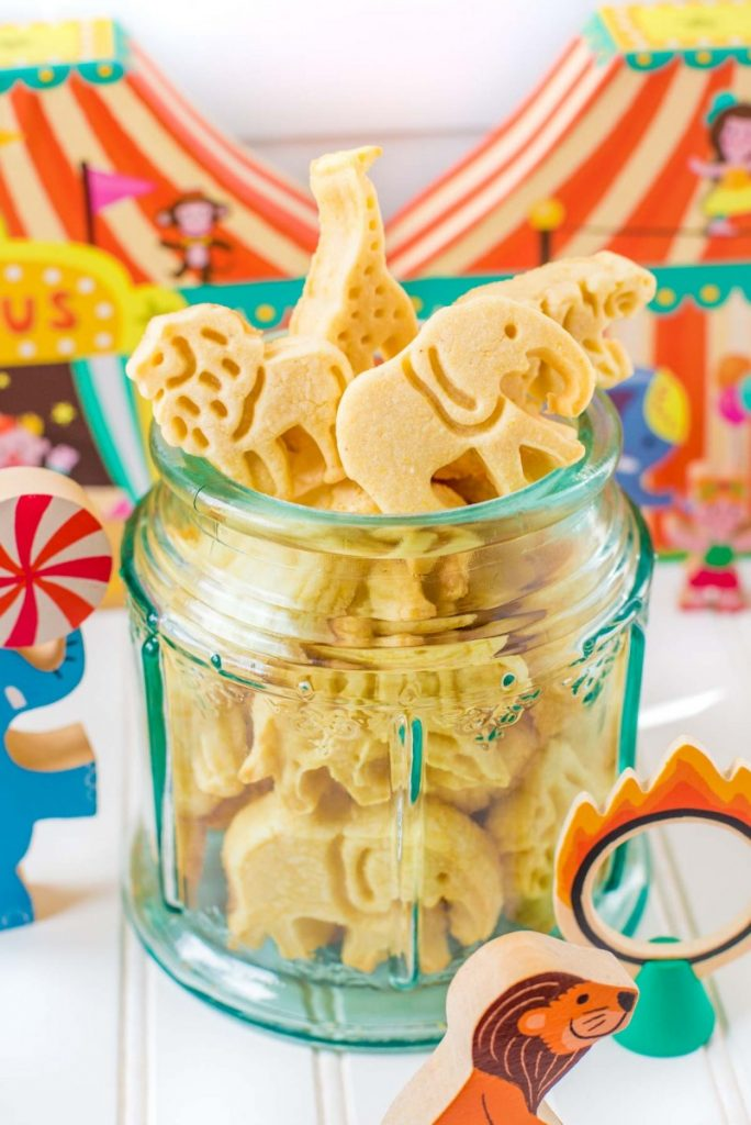 Homemade Barnum and Bailey animal crackers.