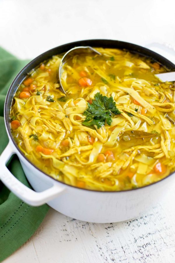 How to make chicken noodle soup.
