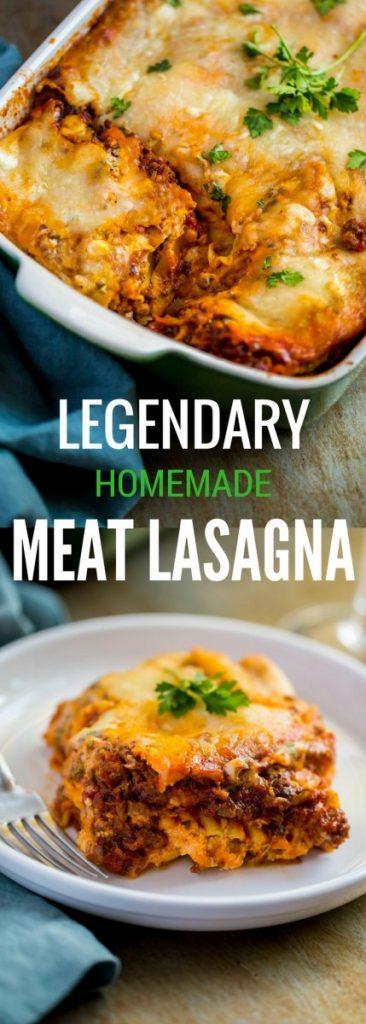 Legendary Homemade Meat Lasagna
