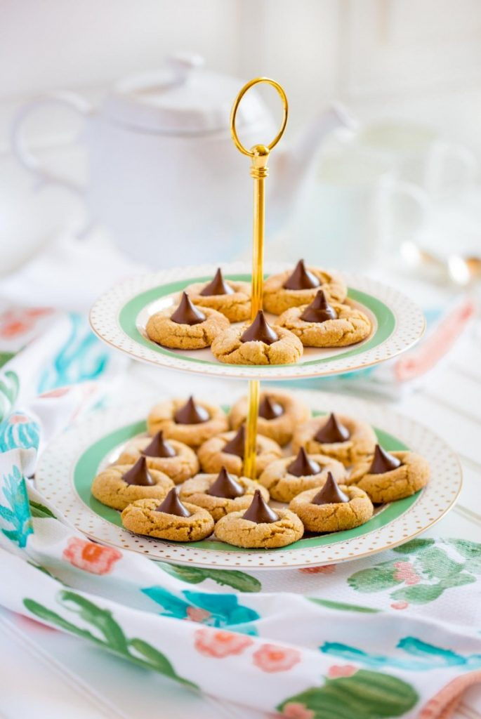 Peanut Butter Blossoms made with Hershey's Kisses and Skippy Peanut Butter