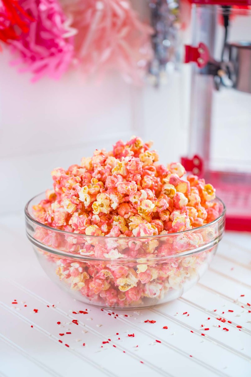 Candy Store Pink Popcorn Quick Easy Recipe