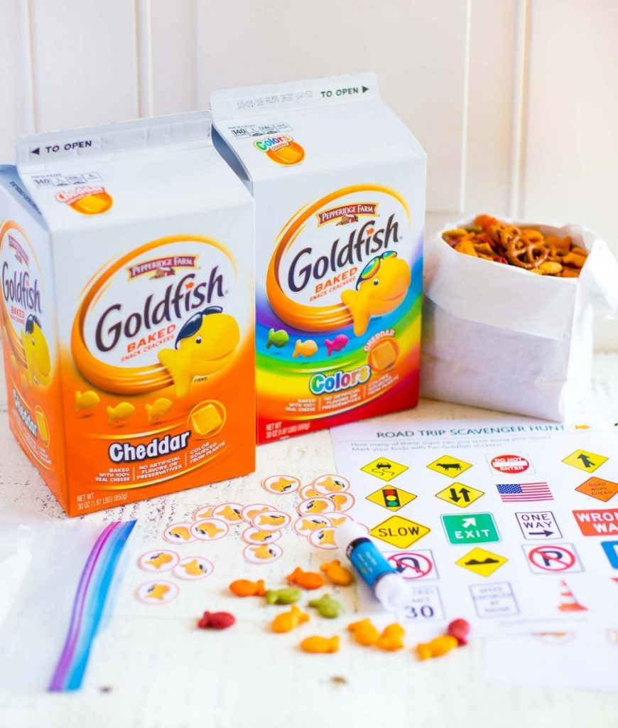 Road Trip Snack Mix with Goldfish Baked Snack Crackers