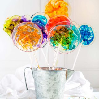Stained Glass Lollipops with Bright Colorful Swirls