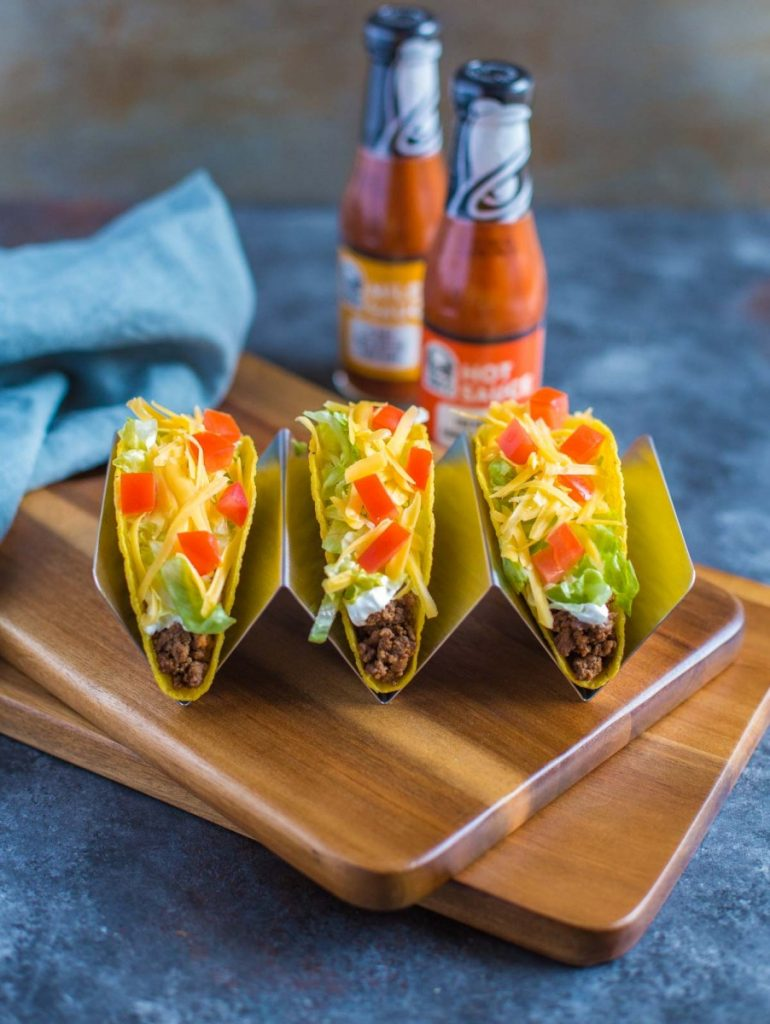 Taco Bell Crunchy Ground Beef Tacos - copycat recipe