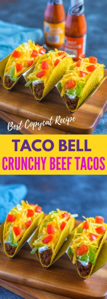 Taco Bell Crunchy Ground Beef Tacos copycat recipe.