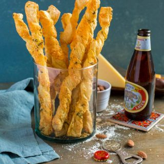 Twisted Puff Pastry Cheese Straws