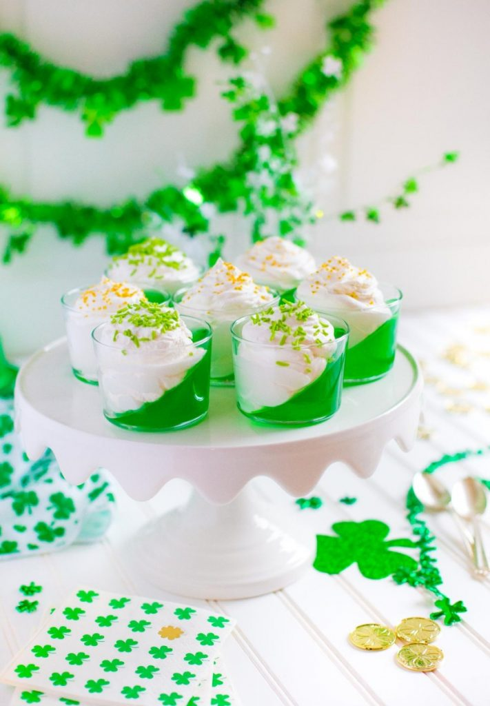 St. Patrick's Day Jello Cups