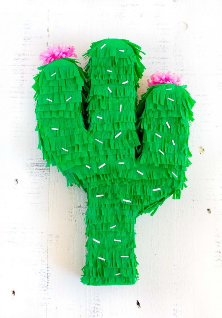 DIY Cactus Pinata for Cinco de Mayo