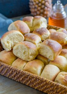 Hawaiian Sweet Bread in a basket