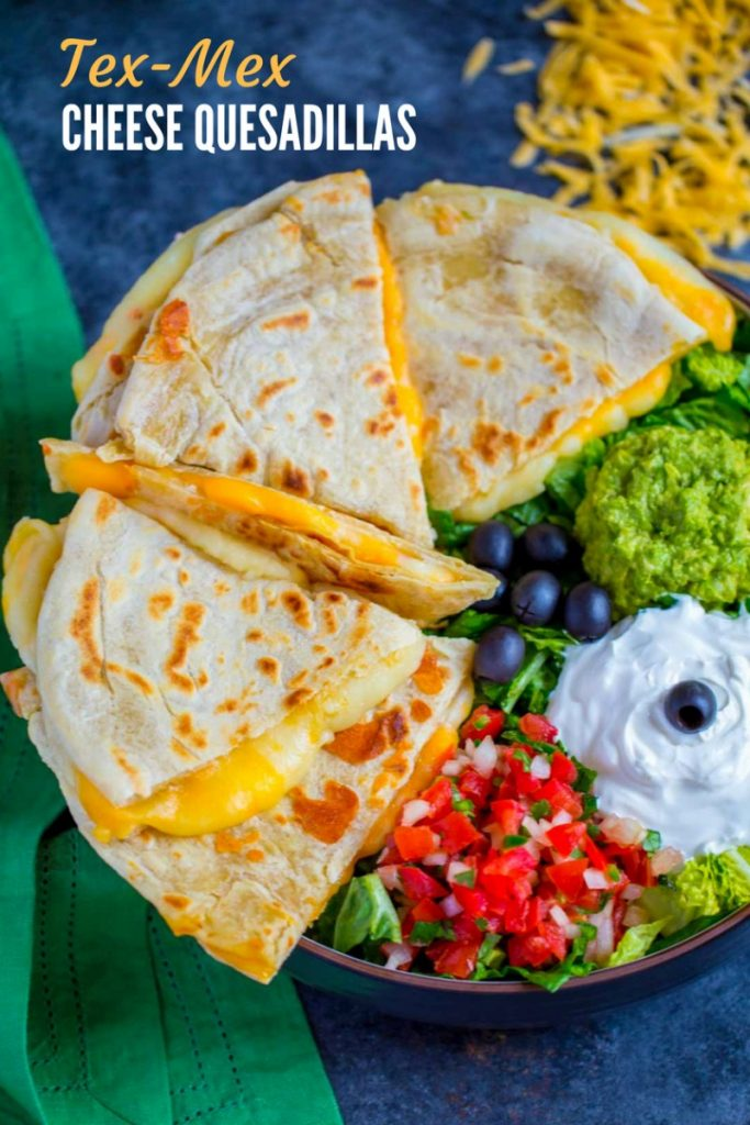 Tex-Mex Cheese Quesadillas