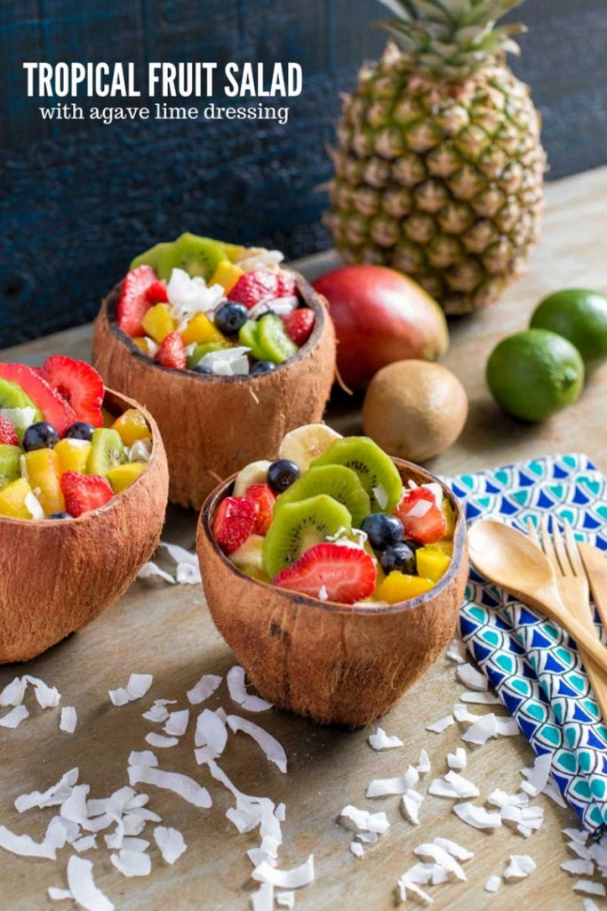 Tropical Fruit Salad with Agave Lime Dressing