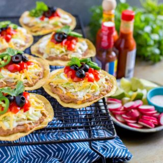 Mexican Chicken Tostadas (15-Minute Recipe)