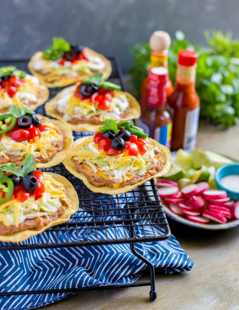 15-minute recipe for Mexican Chicken Tostadas