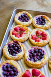 Blueberry and Strawberry Breakfast Pastries