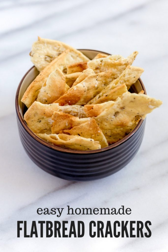 Crispy Seeded Flatbread Crackers