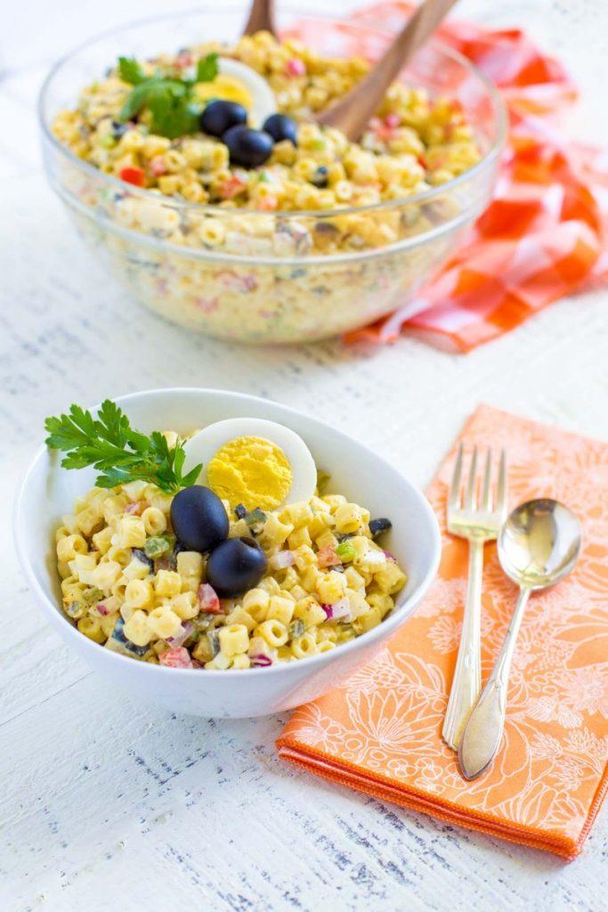 Classic Macaroni Salad | Grandma's Quick Easy Recipe!