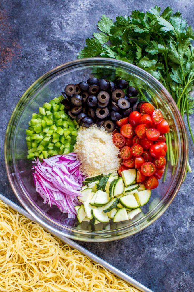 Spaghetti Salad Ingredients