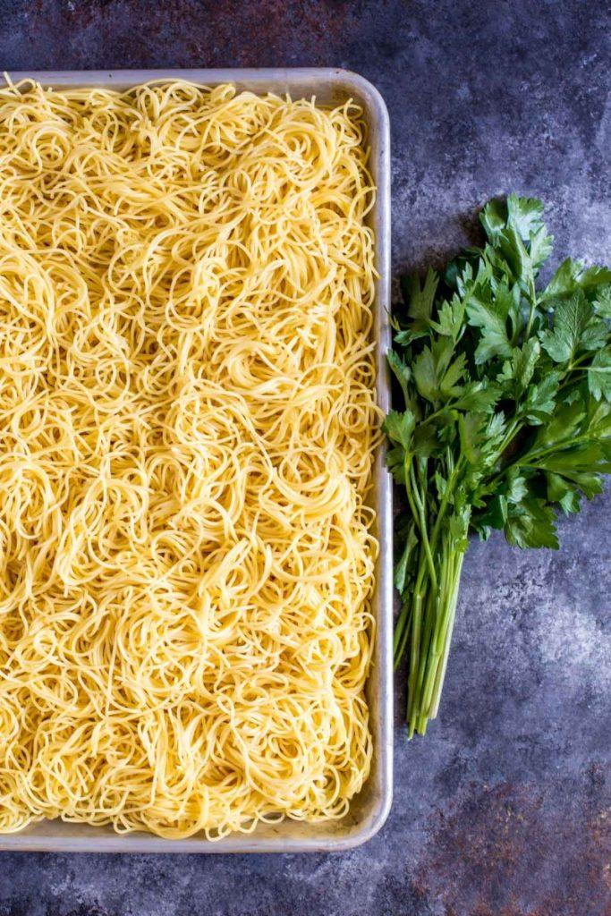 Pasta for spaghetti salad