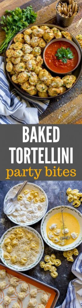 Baked Tortellini Party Snacks