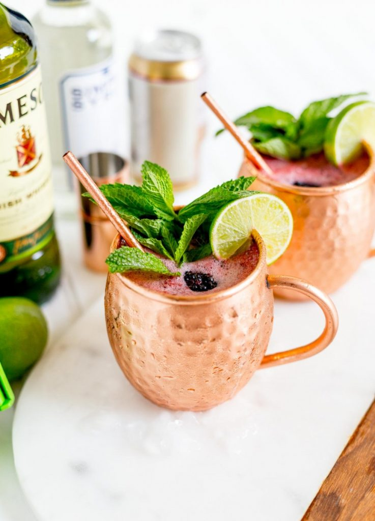 Irish Mule in Copper Mug