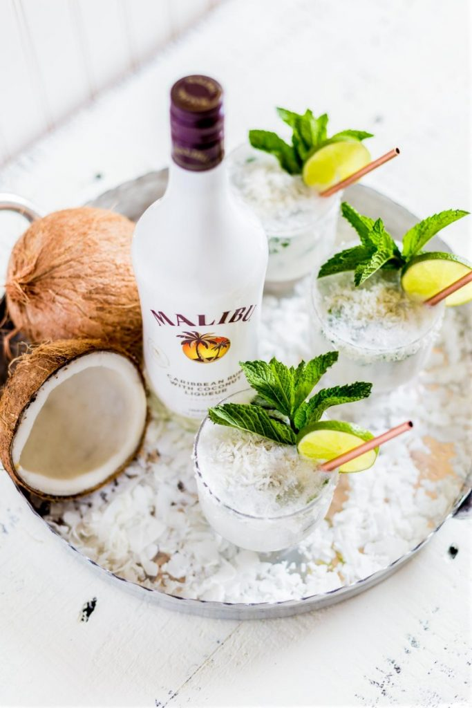 Malibu Rum Coconut Mojito Cocktail