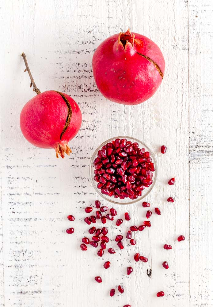 Pomegranate seeds for baked brie recipe.