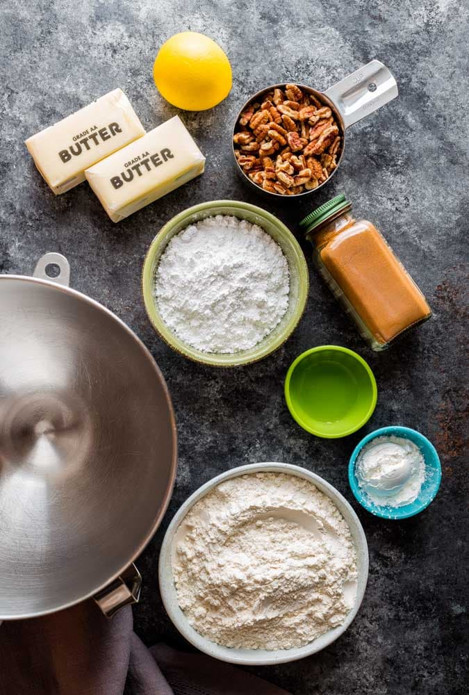 Ingredients for Mexican Wedding Cakes