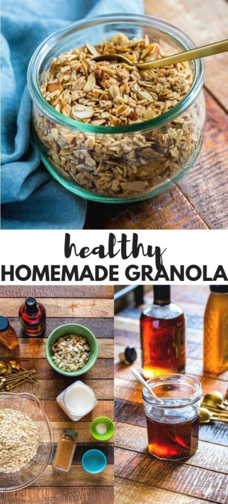 HOMEMADE GRANOLA PINTEREST IMAGE