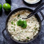 Cilantro lime rice to serve with pineapple shrimp skewers.
