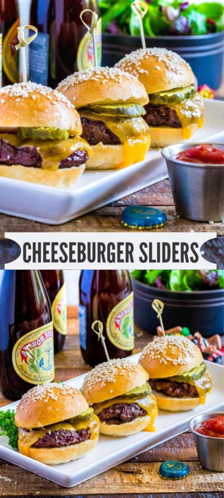 Cheeseburger sliders recipe for Pinterest