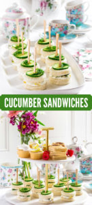 Pinterest Image for Cucumber Sandwiches