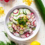 Cucumber Salad Pinterest Image