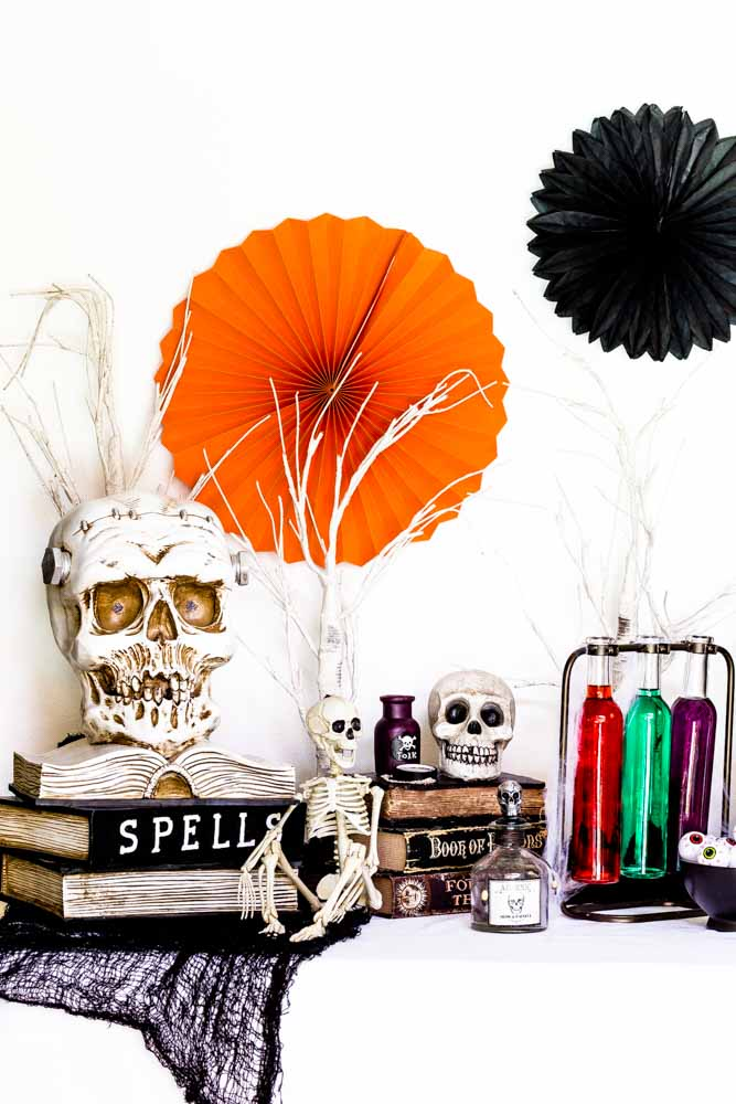A display of Halloween decoration ideas.