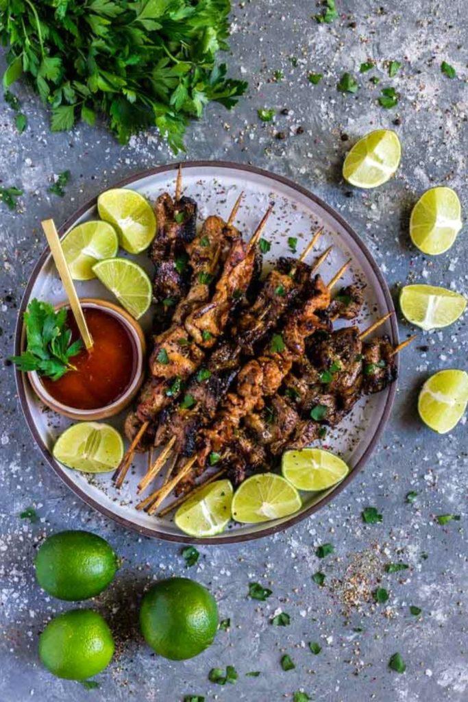 Pinterest Image for Grilled Pork Loin Kabobs