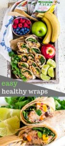 Pinterest image for healthy wraps with chipotle mayo