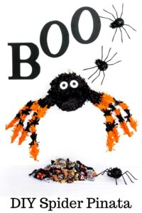 Pinterest Image for DIY Spider Pinata