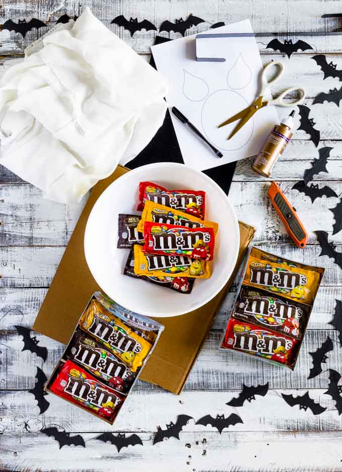 Craft materials for DIY Halloween decorations