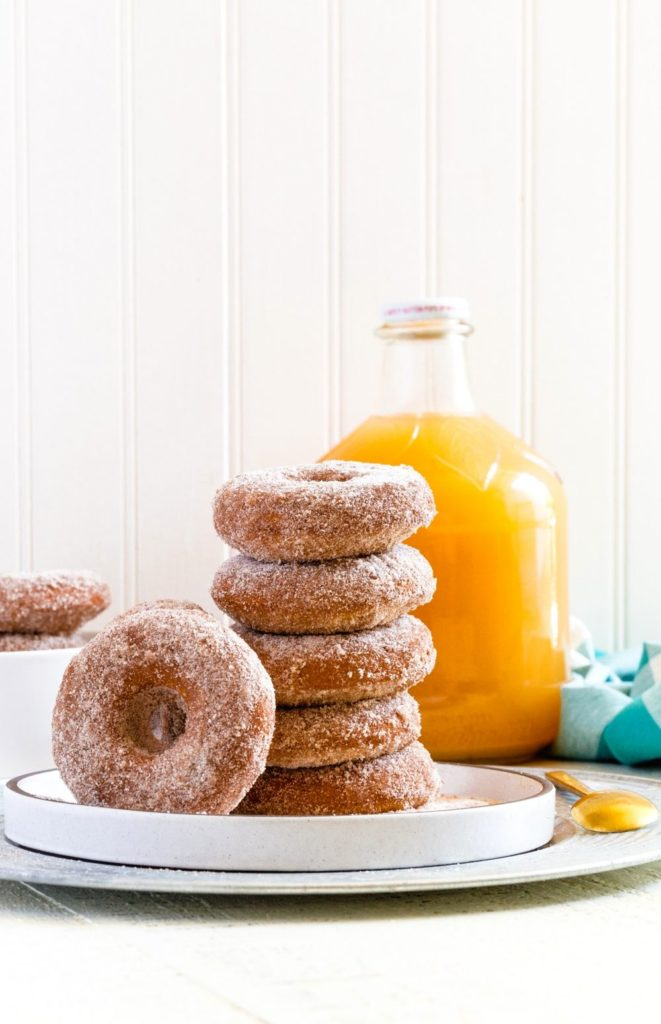 Pinterest image for Baked Apple Cider Donuts