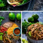 Pinterest image collage of Instant Pot pork carnitas and carnitas tacos.